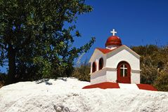 A beautiful church-like, small scale replica for candle lighting in Kos island. A beautiful church-like small-scale replica for candle-lighting in Kos island Royalty Free Stock Image