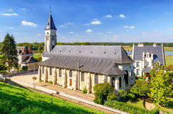 Beautiful church near the castle of Chaumont-sur-Loire, France Stock Images