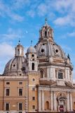 Beautiful church in Rome. Italy. Stock Photos