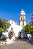 The beautiful church of San Ginés in Arrecife, Lanzarote Royalty Free Stock Images