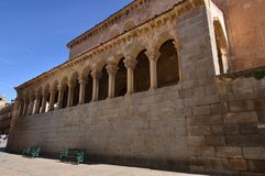 Beautiful Church Of San Millan With Arches In Arcads Under Its Plant In Segovia. Architecture History Travel. June 18, 2018. Segovia Castilla-Leon Spain Royalty Free Stock Photos