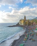 Santa Maria Assunta Church , Camogli royalty free stock photography