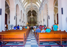 Beautiful church in Santa Marta, caribbean city Royalty Free Stock Images