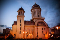 Beautiful Church. Somewhere in Braila, Romania. The cathedral of Braila Royalty Free Stock Photos