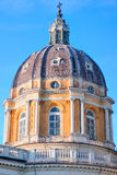 Superga Church in Turin Stock Images