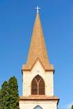 Beautiful Church Steeple - Blue Sky Royalty Free Stock Photos