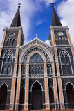 Beautiful church in Thailand. Beautiful church with blue sky Stock Photography