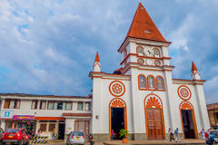 Beautiful church in the town of Villamaria Stock Images