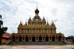 Beautiful of church or ubosot of Wat Tha Sung or Wat Chantharam. Thai people and travelers foreigner travel and visit beautiful of church or ubosot of Wat Tha Royalty Free Stock Photo