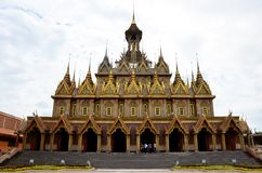 Beautiful of church or ubosot of Wat Tha Sung or Wat Chantharam. Thai people and travelers foreigner travel and visit beautiful of church or ubosot of Wat Tha Stock Photography