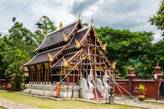 Beautiful church under construction in Aranyawas temple. Thailand stock images