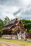 Beautiful church under construction in Aranyawas temple. Thailand stock photos