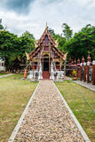 Beautiful church under construction in Aranyawas temple. Thailand royalty free stock photography