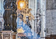 Beautiful church in Vatican, Rome italy royalty free stock photo