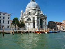 Beautiful church in Venice. Church seen from the river in Venice  Italy wonderful old Italian architecture Stock Images