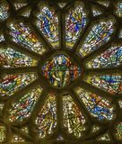 A beautiful church window with a cocktail of different colors