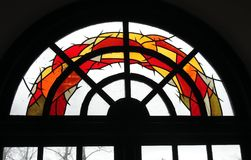 Colorful church window stained glass, Lithuania Stock Images