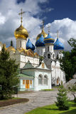 Beautiful churches of the Holy Trinity St. Sergius Lavra Royalty Free Stock Photography
