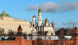 Beautiful churches in the Moscow Kremlin Stock Photography