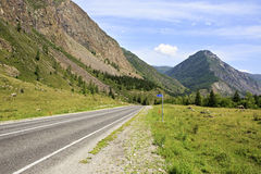 Beautiful Chuysky Trakt in Altai Mountains Stock Images