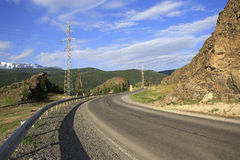 Beautiful Chuysky Trakt in Altai Mountains Stock Photo
