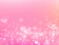 Beautiful circle and heart  on pink background. Stock Photos