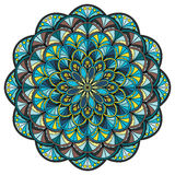 Beautiful circle mandala royalty free illustration