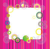 Beautiful circles. Picture with multi-colored strips and beautiful circles Royalty Free Stock Images