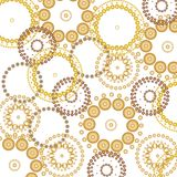 Beautiful circles background. Metallic colored circles in front of a white background vector illustration