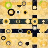 Beautiful circles and lines on a light background vector illustration grunge effect Royalty Free Stock Photo