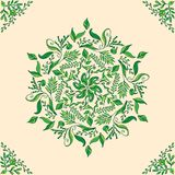 Beautiful circular floral seamless pattern. Ornamental round lace pattern, vector illustration. Beautiful circular floral seamless pattern. Ornamental vector Stock Image