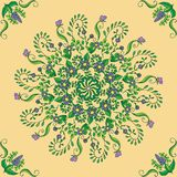 Beautiful circular floral seamless pattern. Ornamental round lace pattern, vector illustration. Beautiful circular floral seamless pattern. Ornamental vector Stock Photo