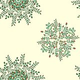 Beautiful circular floral seamless pattern. Ornamental round lace pattern, vector illustration. floral bouquet on a. Beautiful circular floral seamless pattern Royalty Free Stock Images
