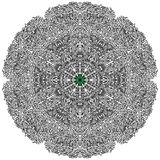 Beautiful circular mandala. Illustration Stock Image