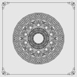 Beautiful circular, ornamental design, arabesques mandala/rosette Stock Images