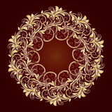 Beautiful circular pattern of floral Royalty Free Stock Image