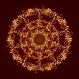 Beautiful circular pattern of floral royalty free stock photo