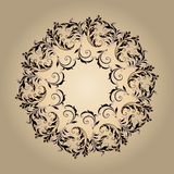 Beautiful circular pattern of floral Stock Photo