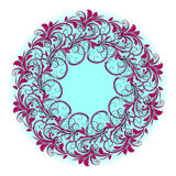 Beautiful circular pattern of floral royalty free stock photos