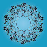 Beautiful circular pattern of floral stock image