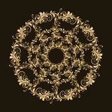 Beautiful circular pattern of floral Stock Images