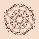 Beautiful circular pattern of floral stock photography
