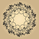 Beautiful circular pattern of floral. Ornament with leaves, mandala on the pastel background Royalty Free Illustration