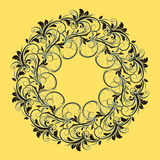 Beautiful circular pattern of floral Royalty Free Stock Images