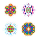 Beautiful circular pattern for your design. Set of circular patterns. Stock Image
