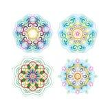 Beautiful circular pattern for your design. Set of circular patterns. Stock Photos