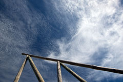 Beautiful cirrus clouds against the blue sky Royalty Free Stock Photography