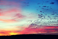 Beautiful clouds at sunset royalty free stock photo