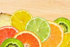 Beautiful citrus fruits of lemon, orange, grapefruit, lime Stock Photos