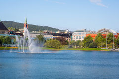 The beautiful city of Bergen Royalty Free Stock Photography